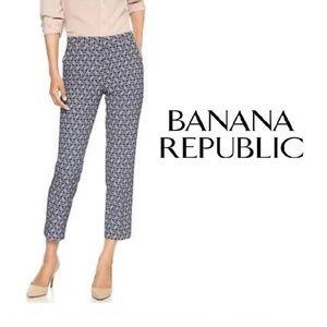 Banana Republic Avery Art Deco Stretch Ankle Pant
